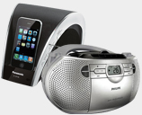 Portable Boom Boxes, Shelf Systems and Ipod Docks