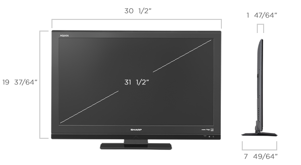 sharp lc 32le440m 32 multi system world wide global led tv lc32le440m 32le440m world import. Black Bedroom Furniture Sets. Home Design Ideas