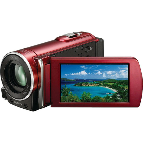 Sony HDR-CX110E HD Handycam PAL Camcorder-Red