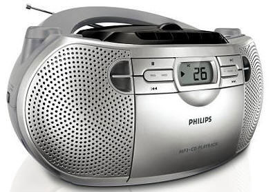 Philips CD Radio Portable Boom Box with MP3 capability