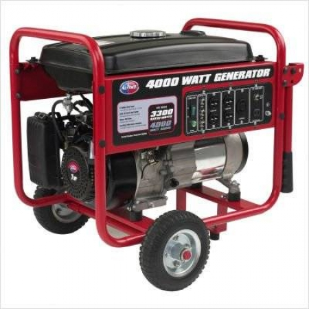 All Power APGG4000 4000 Watt Gasoline Generator with Battery Wheel Kit