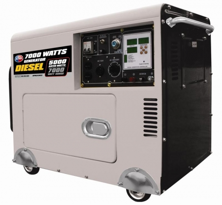 All Power America APGG3203 7000 Watt Diesel Generator with Digital Panel & Battery