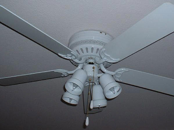 "Saachi 52"" 220-240 Volt Ceiling Fan - White Color"