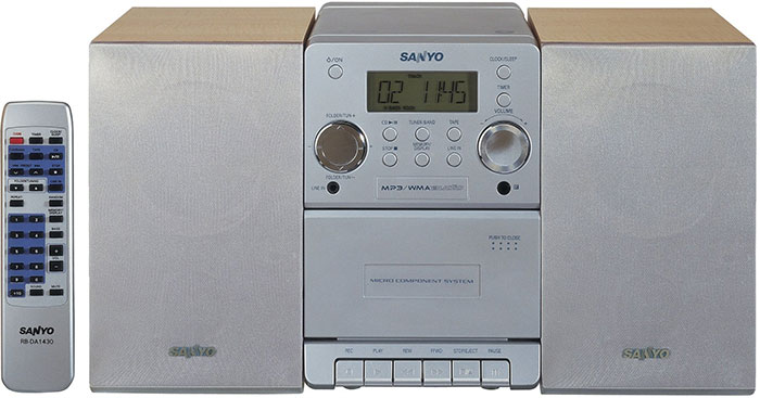 Sanyo DC-DA1430 World Wide Voltage Stereo System
