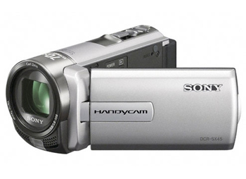 Sony DCR-SX45ES PAL Camcorder with 60X Optical Zoom Silver