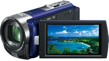 Sony DCR-SX45EL PAL Camcorder with 60X Optical Zoom Blue