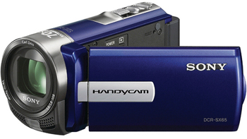 Sony DCR-SX65E-L PAL Compact Camcorder With 60X Optical Zoom Blue