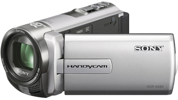 Sony DCR-SX85E PAL Compact Camcorder w/60X Optical Zoom, Silver