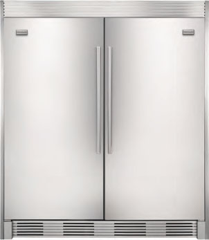 Frigidaire MUFD17V9GS 220-240 Volt 50 Hertz Side by Side Refrigerator and Freezer Set