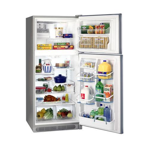 Frigidaire FGTD20V4MW 220 Volt 240 Volt 18 Cu Ft White Top mount Refrigerator