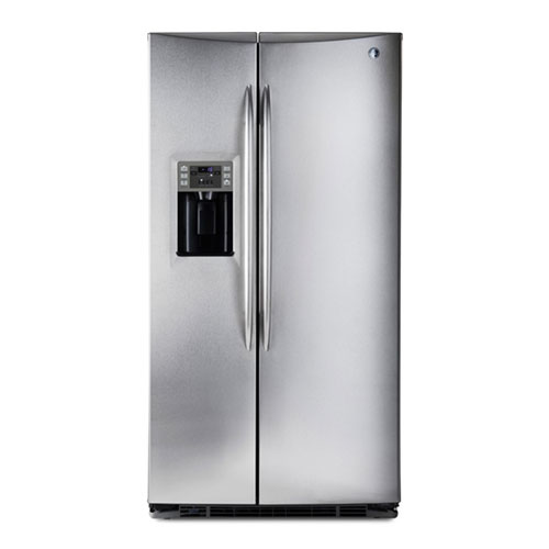 Frigidaire GLSZ28v8GM 220 Volt 26 Cu Ft Premium Silver Side By Side Refrigerator