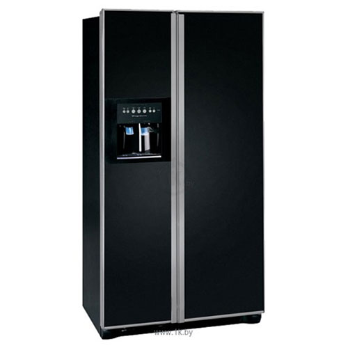 Frigidaire GLVC25VBGB 220 Volt 240 volt 50 Hz 22.6 Cu Ft Black Side By Side Refrigerator