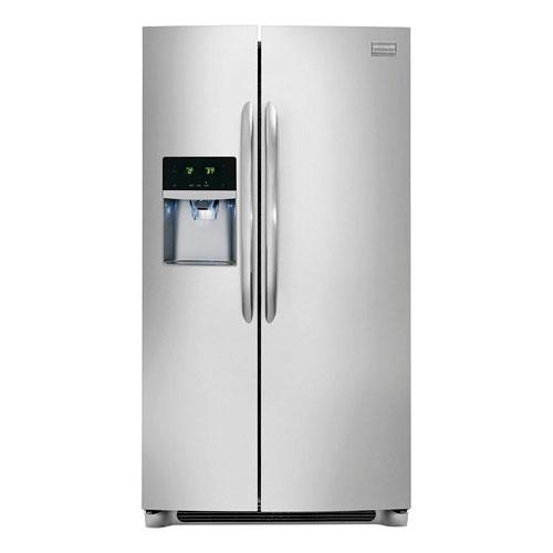 Frigidaire GPVC25V9GS 220 Volt 240 Volt 50 Hz 22.6 Cu Ft Stainless Steel Side By Side Refrigerator