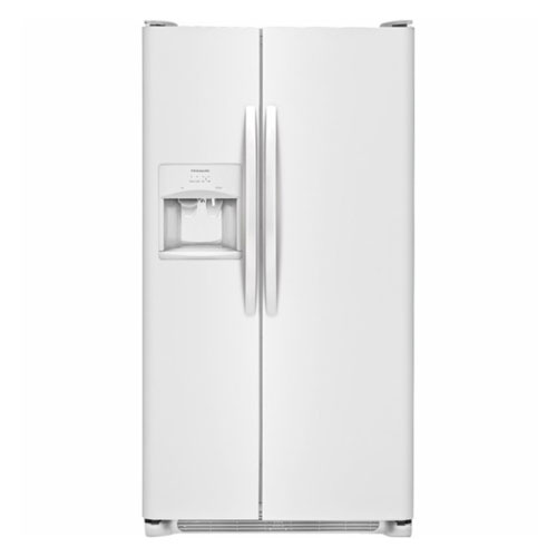Frigidaire RSRC25V4GW 220 Volt 240 Volt 22.6 Cu Ft White Side By Side Refrigerator