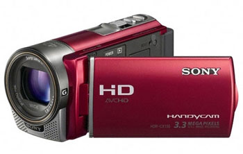 Sony HDR-CX130ER Full HD PAL Camcorder with 30X Optical Zoom Red
