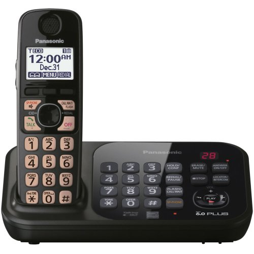 Panasonic KX-TG4741B-220 one handset 220-240 volts 50/60 hz cordless phone