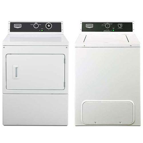 Maytag MVW18MNBGW & MDE18MNAGW 220 Volt 240 Volt 50 Hz Commercial Washer and Dryer Set