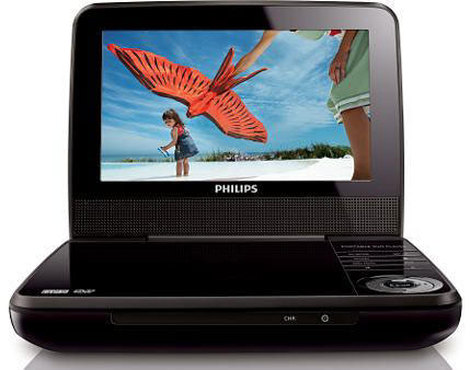 "Philips 7"" LD741 Region Free DVD Player Plays any DVD from anywhere in the World!"