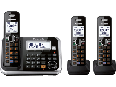 Panasonic KX-TG6843 Three Handsets 220-240 volts 50/60 hz Cordless Phone