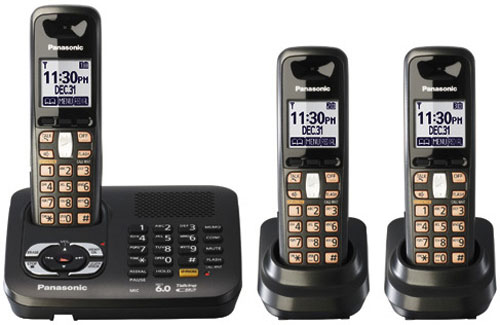 Panasonic KX-TG6443 3 Handset Dual Voltage Cordless Phone