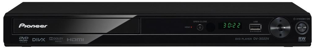 Pioneer DV-3022V-K Region Free DVD Player