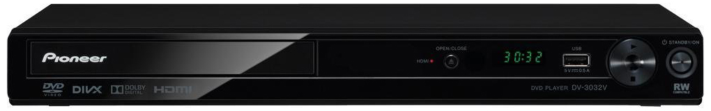 Pioneer DV-3032-k Region Free DVD Player with HDMI output