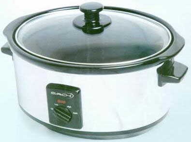 KP6SC Saachi 5.5 liter Crock-pot Slow Cooker/Steamer