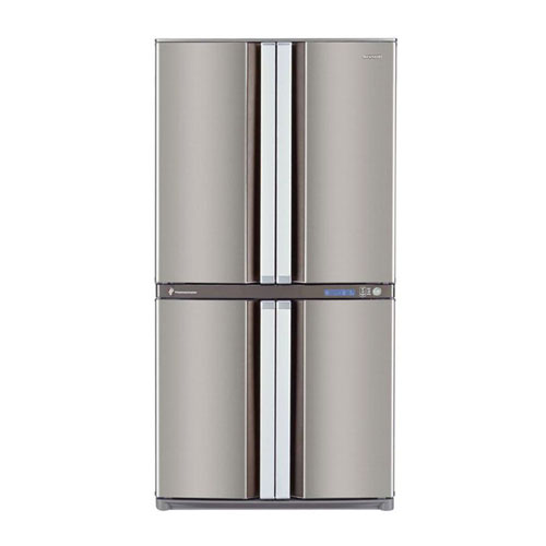 Sharp SJ-F70PE-SL 220 Volt 240 Volt 50 Hz Four Door Stainless Steel Refrigerator