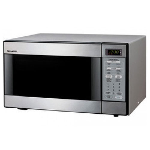 Sharp R-398 220-240 Volt Stainless Steel Microwave Oven