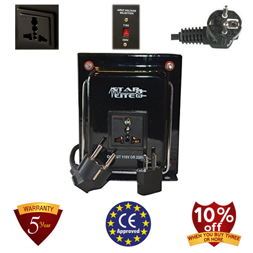 TC-1000A-U/D 1000 Watt Step Up/ Down Voltage Converter Transformer, 5 Year Warranty, 110 to 220 or 220 to 110 - 110/120/220/240 V