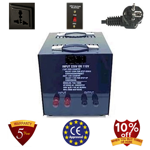 TC-15000A 15000 Watt Step Down Voltage Converter Transformer, 5 Year Warranty, 220 to 110