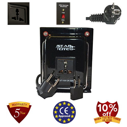 TC-5000A-U/D 5000 Watt Step Up/ Down Voltage Converter Transformer, 5 Year Warranty, Fuse Protection 110 to 220 or 220 to 110 - 110/120/220/240 V