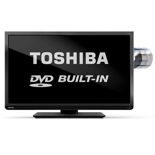 "Toshiba 32D1333DEV 32"" 110 volt 220 Volt PAL NTSC SECAM LED TV with Region Free DVD Player"