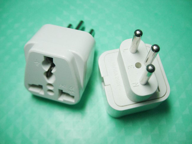 Switzerland Plug Adapter - Accepts universal input
