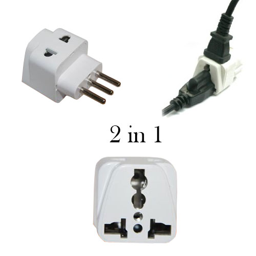 Grounded 2 in 1 universal plug to use in Italy - WSS718