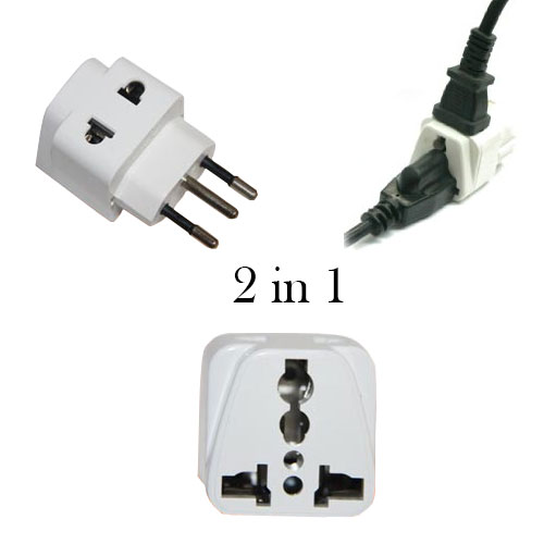 Grounded 2 in 1 universal plug to use in Switzerland - WSS729