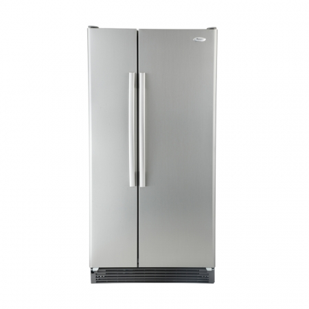 Whirlpool ED2FHKXVA 220 Volt 50 Hertz 23 cu.ft. Side by Side Refrigerator - Stainless Steel Satina Finish