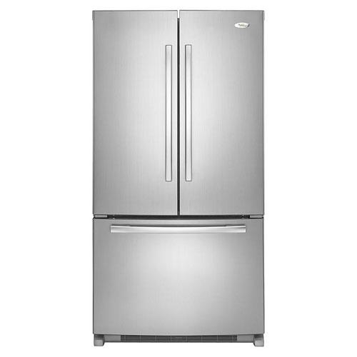 Whirlpool 5GFC20PRYA 220 Volt 240 Volt 50 Hz 20 Cu Ft French Door Refrigerator - Stainless Steel - Energy Efficient Design