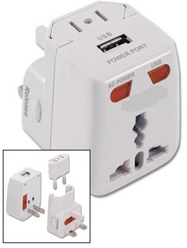 WSS430USB Multi Purpose Universal Plug Adapter with World-Wide USB Charger Port