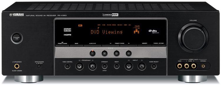 Yamaha rx v363 dual voltage 110 240 voltage av receiver for Yamaha rx v450 av receiver price