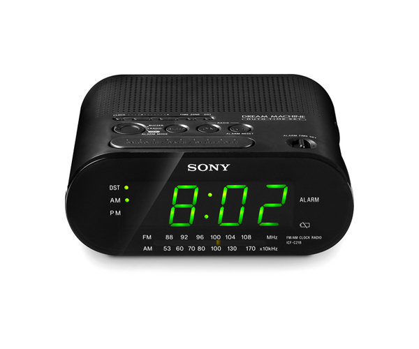 Sony ICF-218 AM/FM Clock Radio - 220/240 Volts 50 Hertz