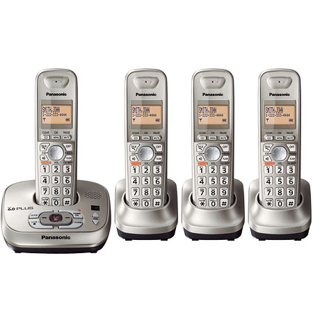 Panasonic KX-TG4024 World Wide Voltage 4 Handset Cordless Phone