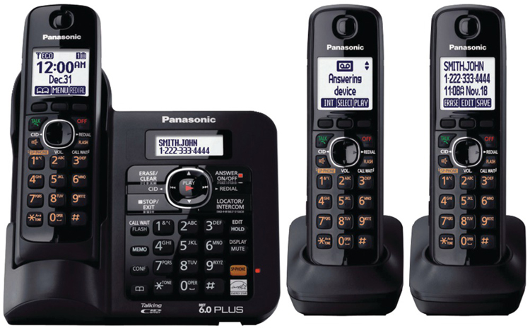 Panasonic KX-TG6643 3 Handset World Wide Voltage Cordless Phone