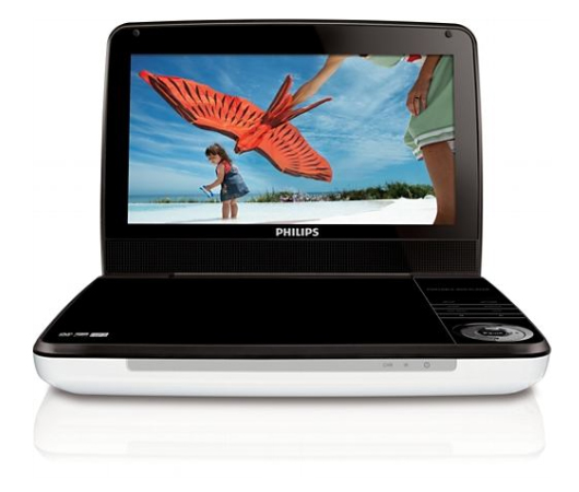 "Philips LD9000 9"" Region Free World Wide Portable DVD Player"