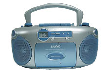 SANYO CD Radio Portable Boom Box