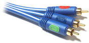 NXG Gold Plated 2 meter Component Video Cable