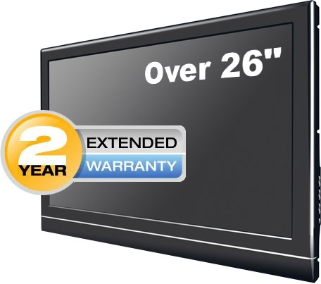 2 Years Extended Warranty Coverage for TVs over 26""
