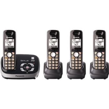 Panasonic KX-TG6524 4 Handset World Wide Voltage Cordless Phone
