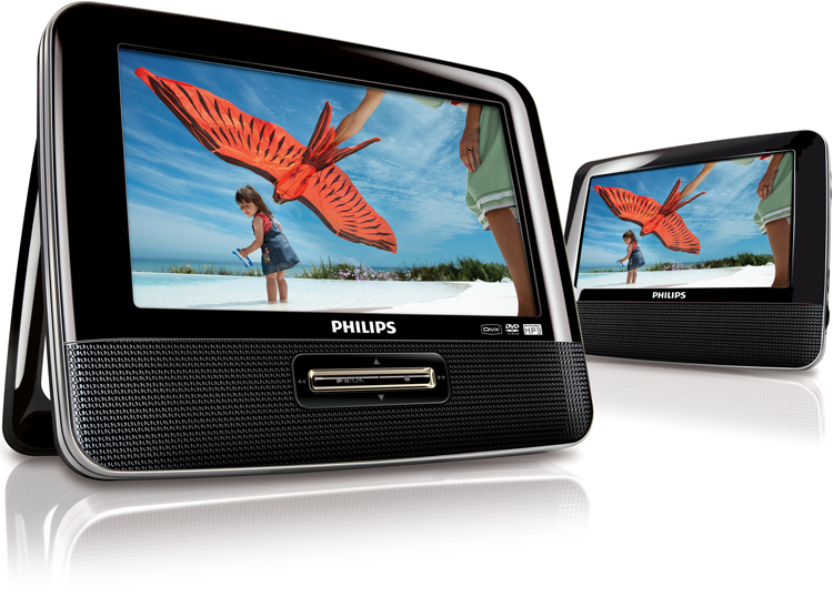 Philips PET-7402-CF Region Free Dual Screen Player