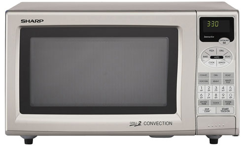 Sharp R-888F 220-240 Volt 50 Hertz Microwave Oven with Grill and Convection Feature